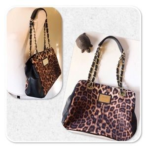 Nicole by Nicole Miller Leopard Print Bag